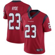Wholesale Cheap Nike Texans #23 Carlos Hyde Red Alternate Men's Stitched NFL Vapor Untouchable Limited Jersey