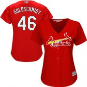 Wholesale Cheap Cardinals #46 Paul Goldschmidt Red Alternate Women's Stitched MLB Jersey