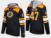 Wholesale Cheap Bruins #47 Torey Krug Black Name And Number Hoodie