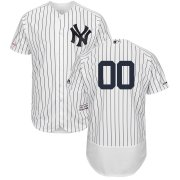 Wholesale Cheap New York Yankees Majestic Home Flex Base Authentic Collection Custom Jersey White
