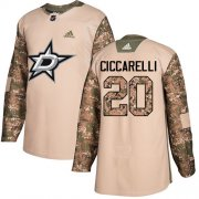 Wholesale Cheap Adidas Stars #20 Dino Ciccarelli Camo Authentic 2017 Veterans Day Stitched NHL Jersey