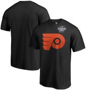 Wholesale Cheap Men's Philadelphia Flyers Black 2019 Stadium Series Primary Logo T-Shirt