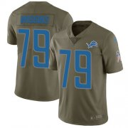 Wholesale Cheap Nike Lions #79 Kenny Wiggins Olive Youth Stitched NFL Limited 2017 Salute To Service Jersey