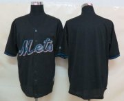 Wholesale Cheap Mets Blank Black Fashion Stitched MLB Jersey
