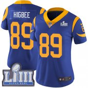 Wholesale Cheap Nike Rams #89 Tyler Higbee Royal Blue Alternate Super Bowl LIII Bound Women's Stitched NFL Vapor Untouchable Limited Jersey
