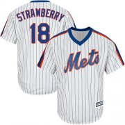 Wholesale Cheap Mets #18 Darryl Strawberry White(Blue Strip) Alternate Cool Base Stitched Youth MLB Jersey
