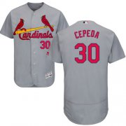 Wholesale Cheap Cardinals #30 Orlando Cepeda Grey Flexbase Authentic Collection Stitched MLB Jersey