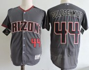 Wholesale Cheap Diamondbacks #44 Paul Goldschmidt Gray Flexbase Authentic Collection Stitched MLB Jersey