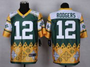 Wholesale Nike Packers #12 Aaron Rodgers Green Men's Stitched NFL Elite Noble Fashion Jersey