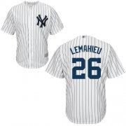 Wholesale Cheap Yankees #26 DJ LeMahieu White Strip New Cool Base Stitched MLB Jersey
