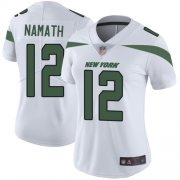 Wholesale Cheap Nike Jets #12 Joe Namath White Women's Stitched NFL Vapor Untouchable Limited Jersey