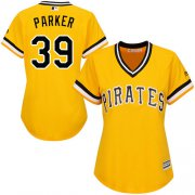 Wholesale Cheap Pirates #39 Dave Parker Gold Alternate Women's Stitched MLB Jersey