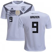 Wholesale Cheap Germany #9 Wagner White Home Kid Soccer Country Jersey