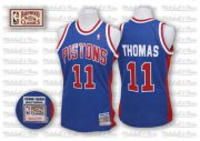 Wholesale Cheap Detroit Pistons #11 Isiah Thomas Blue Swingman Throwback Jersey
