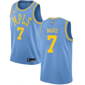 Wholesale Cheap Men\'s Los Angeles Lakers #7 JaVale McGee Blue Nike NBA Hardwood Classics Authentic Jersey
