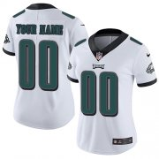 Wholesale Cheap Nike Philadelphia Eagles Customized White Stitched Vapor Untouchable Limited Women's NFL Jersey