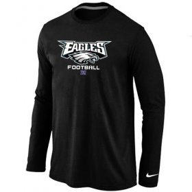Wholesale Cheap Nike Philadelphia Eagles Critical Victory Long Sleeve T-Shirt Black