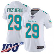 Wholesale Cheap Nike Dolphins #29 Minkah Fitzpatrick White Women's Stitched NFL 100th Season Vapor Limited Jersey