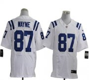 Wholesale Cheap Nike Colts #87 Reggie Wayne White Men's Stitched NFL Elite Jersey