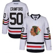 Wholesale Cheap Blackhawks #50 Corey Crawford White 2017 Winter Classic Stitched Youth NHL Jersey