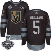 Wholesale Cheap Adidas Golden Knights #5 Deryk Engelland Black 1917-2017 100th Anniversary 2018 Stanley Cup Final Stitched NHL Jersey