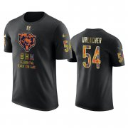 Wholesale Cheap Bears #54 Brian Urlacher Black Men's Black History Month T-Shirt