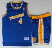 Wholesale Cheap Golden State Warriors #4 Chris Webber Blue Hardwood Classics NBA Jerseys Shorts Suits