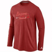 Wholesale Cheap Atlanta Braves Long Sleeve MLB T-Shirt Red
