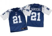 Wholesale Nike Cowboys #21 Deion Sanders Navy Blue/White Throwback Men's Stitched NFL Elite Jersey
