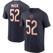 Wholesale Cheap Chicago Bears #52 Khalil Mack Nike Team Player Name & Number T-Shirt Navy