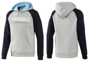 Wholesale Cheap Dallas Cowboys English Version Pullover Hoodie Grey & Blue