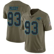 Wholesale Cheap Nike Panthers #93 Gerald McCoy Olive Men's Stitched NFL Limited 2017 Salute To Service Jersey