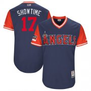 "Wholesale Cheap Angels of Anaheim #17 Shohei Ohtani Navy ""Showtime"" Players Weekend Authentic Stitched MLB Jersey"