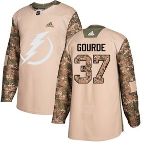 Wholesale Cheap Adidas Lightning #37 Yanni Gourde Camo Authentic 2017 Veterans Day Stitched NHL Jersey