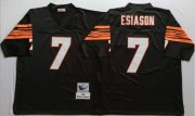 Wholesale Cheap Mitchell And Ness Bengals #7 Boomer Esiason Black Throwback Stitched NFL Jersey