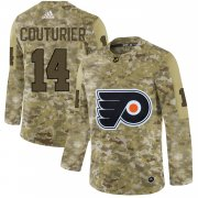 Wholesale Cheap Adidas Flyers #14 Sean Couturier Camo Authentic Stitched NHL Jersey