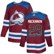 Wholesale Cheap Adidas Avalanche #29 Nathan MacKinnon Burgundy Home Authentic Drift Fashion Stitched NHL Jersey