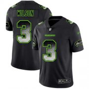 Wholesale Cheap Nike Seahawks #3 Russell Wilson Black Men's Stitched NFL Vapor Untouchable Limited Smoke Fashion Jersey