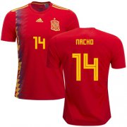 Wholesale Cheap Spain #14 Nacho Home Soccer Country Jersey