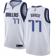 Wholesale Cheap Nike Dallas Mavericks #77 Luka Doncic White NBA Swingman Association Edition Jersey