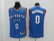 Cheap Youth Oklahoma City Thunder #0 Russell Westbrook Light Blue Jersey