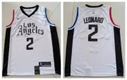 Wholesale Cheap Clippers 2 Kawhi Leonard White City Edition Nike Swingman Jersey