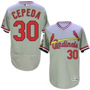 Wholesale Cheap Cardinals #30 Orlando Cepeda Grey Flexbase Authentic Collection Cooperstown Stitched MLB Jersey