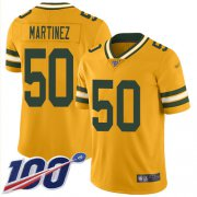 Wholesale Cheap Nike Packers #50 Blake Martinez Gold Men's Stitched NFL Limited Inverted Legend 100th Season Jersey