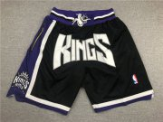 Wholesale Cheap Sacramento Kings Black Pockets Swingman Shorts
