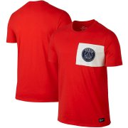 Wholesale Cheap Paris Saint-Germain Nike Team Crest T-Shirt Red