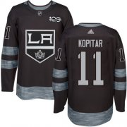 Wholesale Cheap Adidas Kings #11 Anze Kopitar Black 1917-2017 100th Anniversary Stitched NHL Jersey