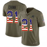 Wholesale Cheap Nike Panthers #21 Jeremy Chinn Olive/USA Flag Men's Stitched NFL Limited 2017 Salute To Service Jersey