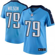 Wholesale Cheap Nike Titans #79 Isaiah Wilson Light Blue Women's Stitched NFL Limited Rush Jersey