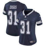 Wholesale Cheap Nike Cowboys #31 Trevon Diggs Navy Blue Team Color Women's Stitched NFL Vapor Untouchable Limited Jersey